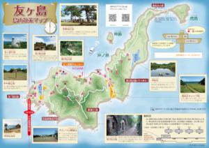 和歌山市の友ヶ島の地図